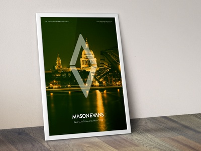 Mason Evans Brand Design brand logo design web mockup framed
