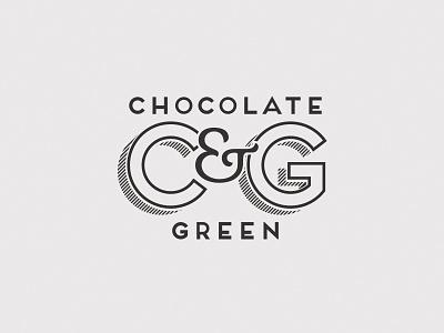 Chocolate & Green Brand brand logo cafe deli cakery signwriter serif sans serif outlined