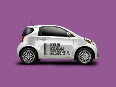 Colin Graham Residential real estate northern ireland belfast vehicle wrap livery car logo brand agency brand identity brand design branding