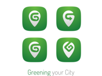 Greening your City logo study study concept app logo logo design logo