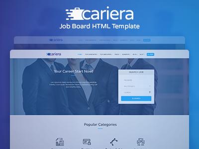 cariera - job board html template free download  Cariera - Job Board HTML Template by Gino Aliaj - Dribbble