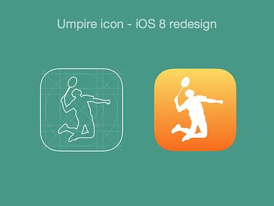 Umpire Icon ios app icon umpire redesign badminton sports