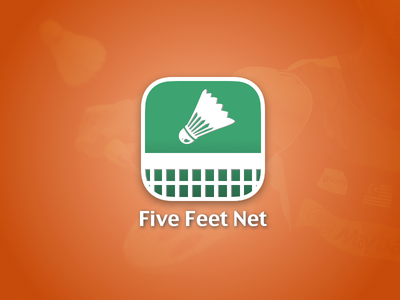 Five Feet Net - Logo app logo design badminton sports