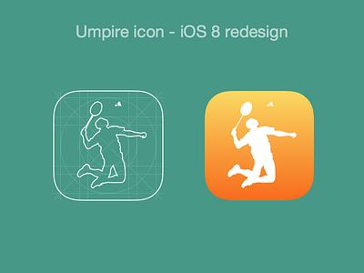 Umpire Icon - Revised ios icon app redesign badminton sports