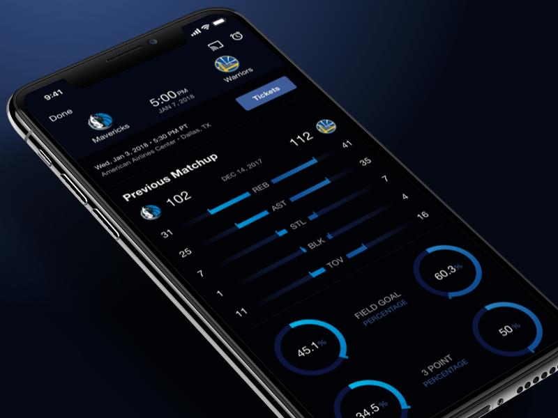 NBA App - Design System basketball design system nba