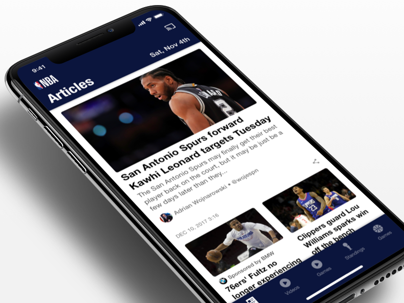NBA App - Design System basketball design system nba