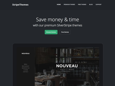 StripeThemes homepage