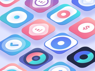 App Icons for Income Tracking UI Kit isometric icons isometric uikits uiicons appicons appicon app