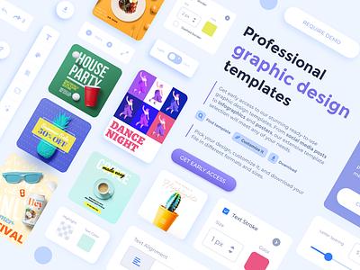 Online Graphics Editor templates uiuxdesign uxdesign editor instaposts postermaker graphicmaker graphics