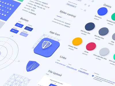 UI Component Library and Product Styleguide colorscheme uiguidelines styleguide uilib components ui