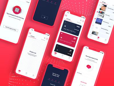 Neverforget App tags nfc passwords iphonex design app uiux ui cards bank