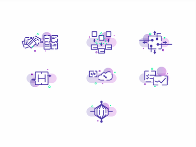 Icon set design illustration uiux linear icons icon set icons