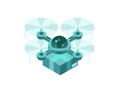 Isometric Delivery Drone delivery drone illustration isometric