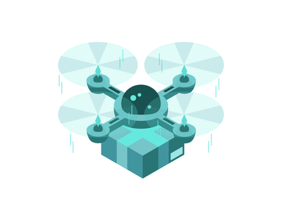 Isometric Delivery Drone