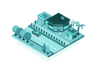 Isometric Store Online Visibility