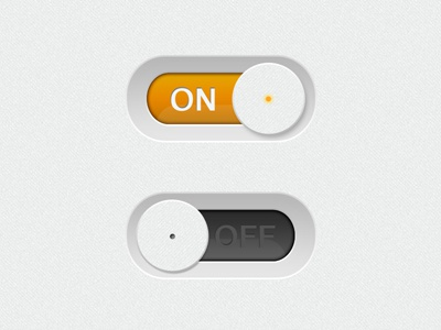 Switch ON/OFF - Button 2 button switch on off orange black ui slide