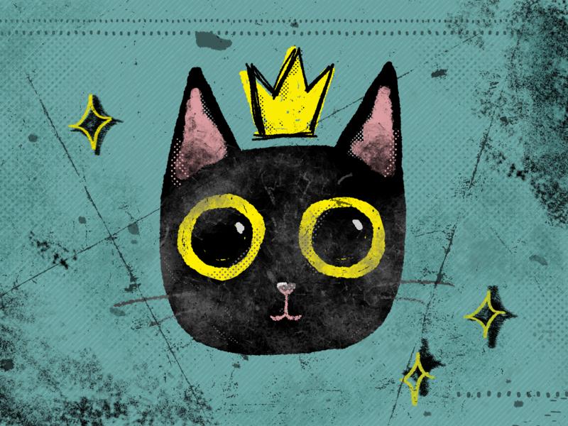 gatinho illustration black cat hand drawn textures drawing cat