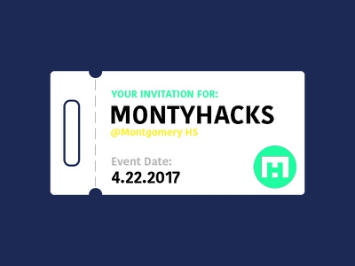 Montyhacks Ticket Advertisement invitation programming coding montyhacks hackathon ticket