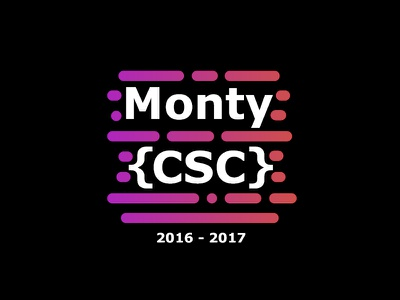 Monty CSC T-shirt advertisement programming coding computer science monty csc