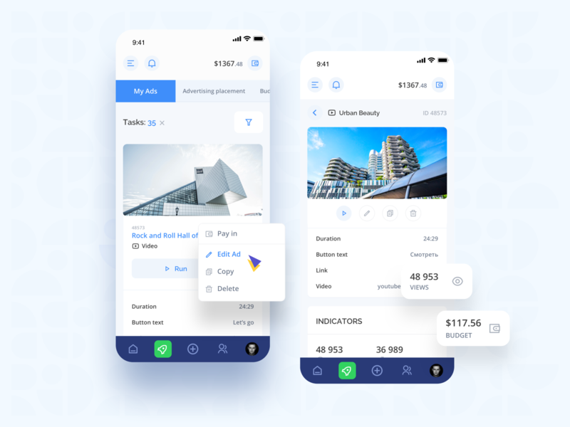 Surfe: My ads social layout shop redesign creative landing mobile investment platform colorful interface dashboard business finance fintech marketing filters system ui ux