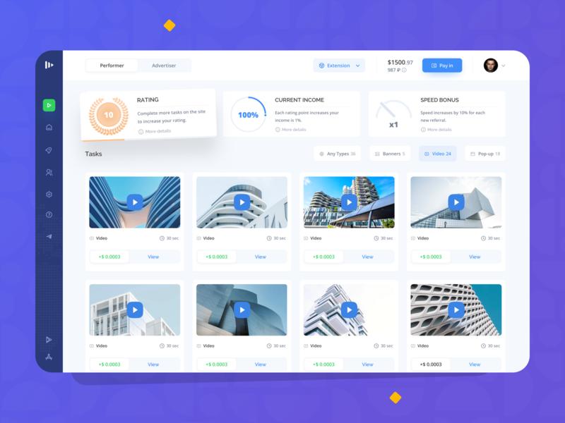Surfe: Tasks ui ux system filters marketing fintech finance business dashboard interface colorful platform investment mobile landing creative redesign shop layout social
