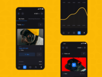Surfe: Tasks & Ads dark mode dark app shop redesign creative landing mobile investment platform colorful interface dashboard business finance fintech marketing filters system ui ux