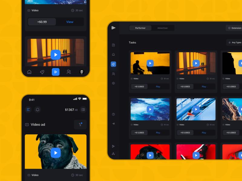 Surfe: Tasks ux ui system filters marketing fintech finance business dashboard interface colorful platform investment mobile landing creative redesign shop dark app dark mode
