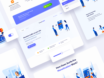 Surfe Pro Design System: Redesign brand web design grid design systems saas finance ui components typography app landing page components ux design ui design ui kit clean framework design system interface ux ui