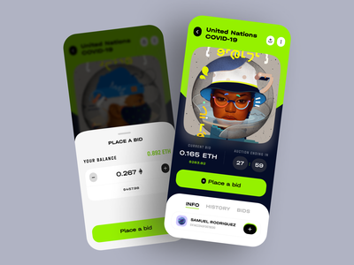 ARTIFACT — NFT Marketplace trading app coin finance ui design cryptocurrency auction mobile app crypto exchange game design payments dark ui ethereum blockchain bitcoin mining wallet crypto ui ux interaction