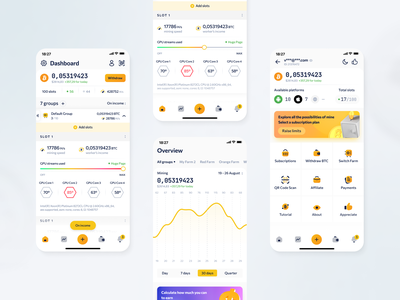 CryptoTab Farm Redesign crypto wallet dashboard blockchain finance cryptocurrency layout app mobile app ecommerce interface nft bitcoin coin product design bank exchange swap trading