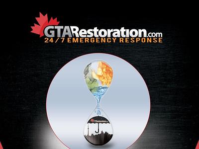 GTA Restoration | Water Damage Toronto Mold Removal Specialist! web illustration design logo