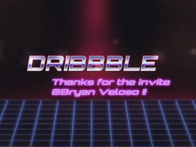 Hello Dribbble! space retro 80s