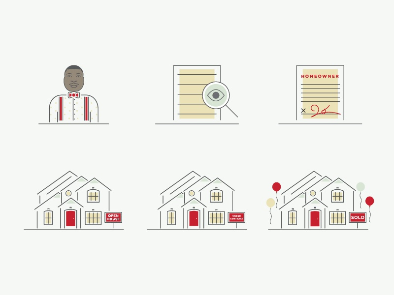 Loan Process Illustrations loan process adobe illustrator illustrations