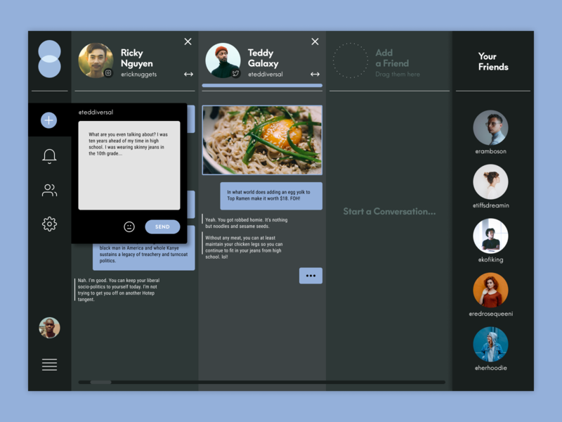 Daily UI - Day 13 - Direct Messaging messenger app dm messaging design ui ux digital design daily ui