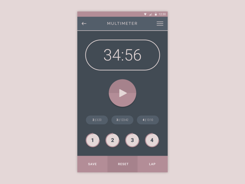 Daily Ui - Day 14 - Timer timer design digital design ux ui daily ui