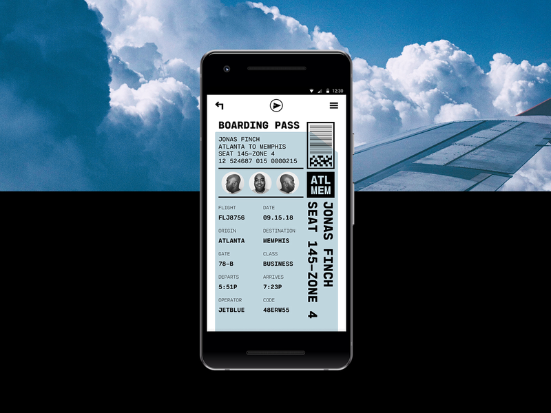 Daily Ui - Day 24 - Boarding Pass ui designer boarding pass mobile app ux ui daily ui digital design