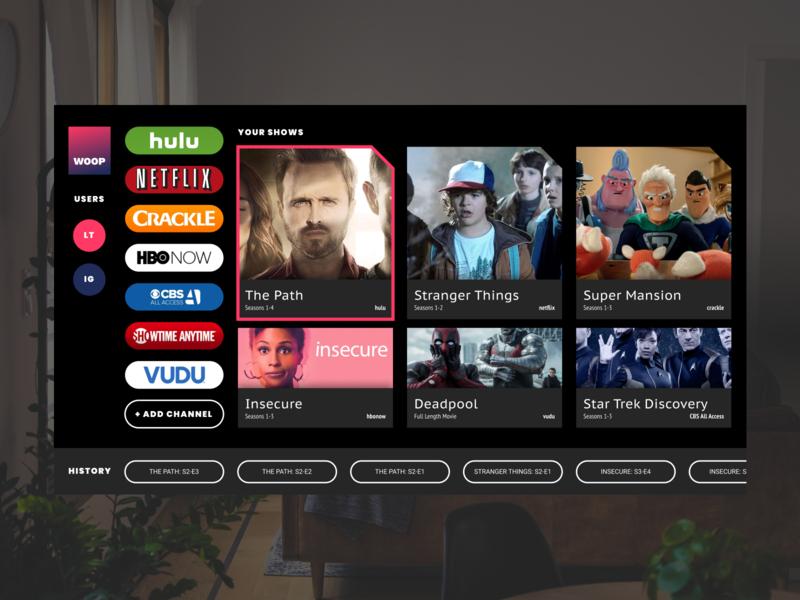 Daily UI - Day 25 - Smart Tv App tv smart tv ui ux daily ui digital design