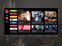 Daily UI - Day 25 - Smart Tv App