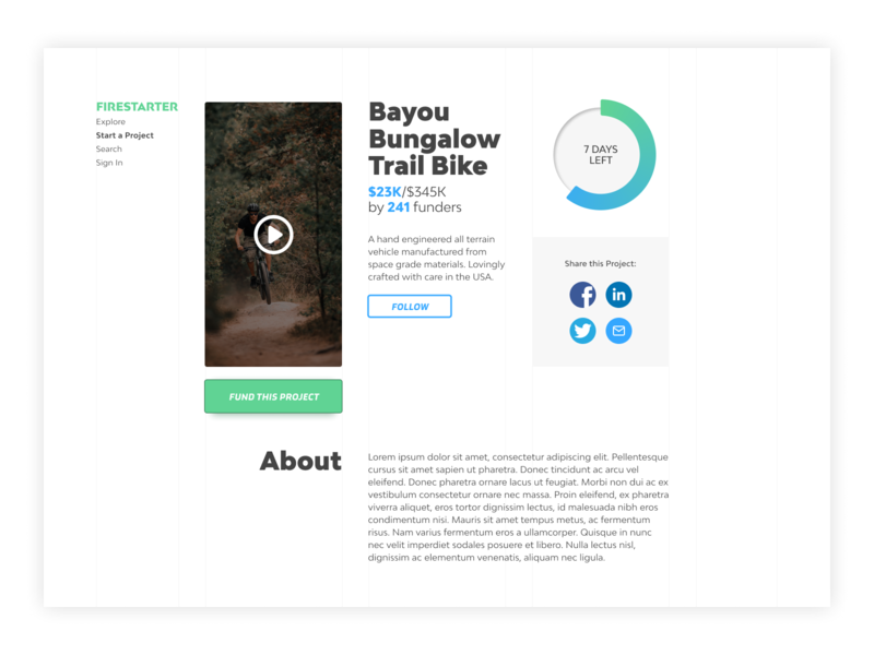 Daily Ui - Day 32 - Crowdfunding crowdfunding ui ux daily ui design digital design