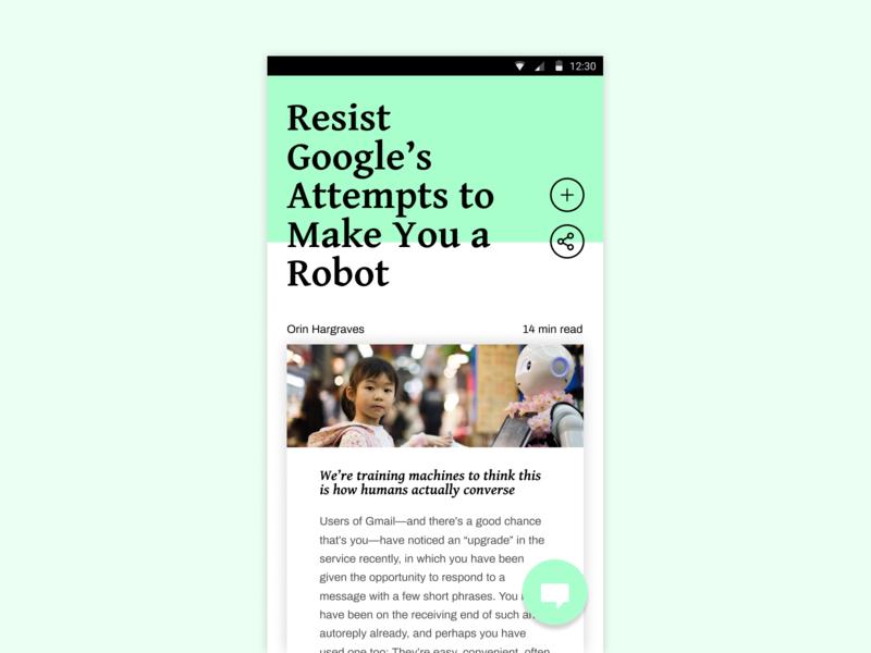 Daily Ui - Day 35 - Blog Post blog post ux ui daily ui design digital design