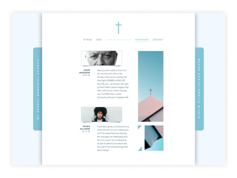 Daily Ui Day 39 Testimonials church testimonials ux ui daily ui design digital design