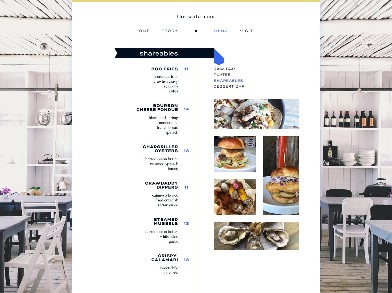 Daily Ui   Day 43   Food Menu food and beverage seafood restaurant menu food ux ui daily ui design digital design