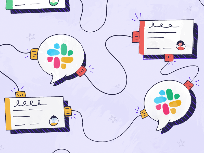 Slack Integration app chat bubble product tool clubhouse connect connection people chat message import api integration slack