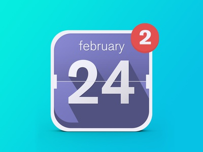 Date App Icon app icon date calendar ireland dublin notification long shadow 24 flat