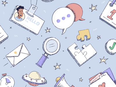 Hackpack 🕺 hatch thumbs up folder avatar envelope chat sketchy blog profile clubhouse