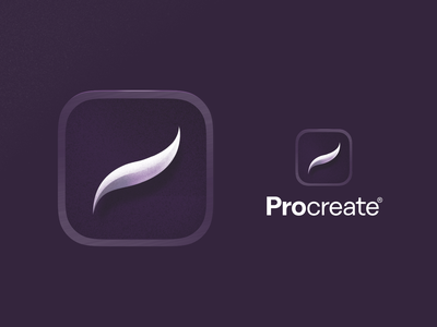 Procreate FTW branding logo drawing swoosh icon app procreate