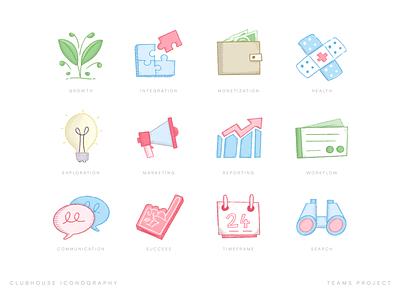 Team Icons jigsaw growth icons avatars team iconography