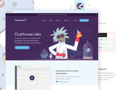 Clubhouse Labs script mouse mad scientist scientist character science clubhouse