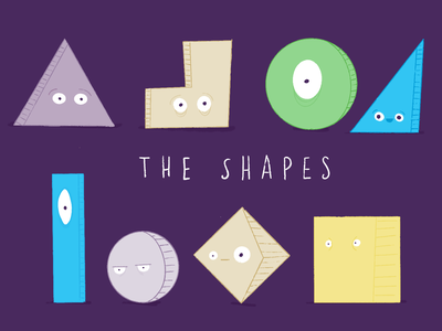 Character Exploration character triangle square circle shape eyes shapes characters