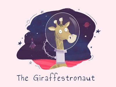 The Giraffestronaut booking kids book planet space astronaut giraffe kids book